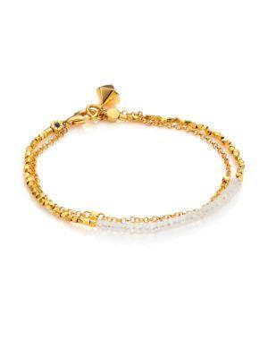 Astley Clarke Biography Moonstone Beaded Friendship Bracelet In Gold-Moonstone