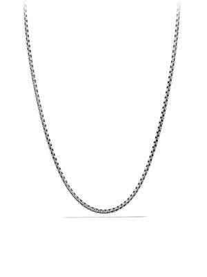 "David Yurman Small Box Chain Necklace With Gold/20"" In Silver Gold"