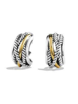 David Yurman Crossover Earrings With Gold In Silver-Gold