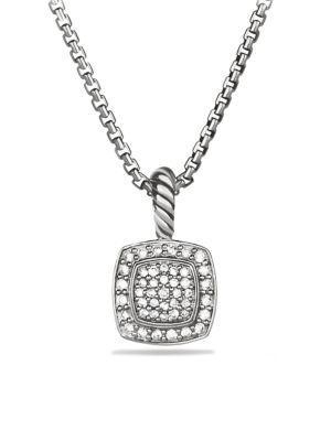 David Yurman Petite Albion Pendant Necklace With Diamonds In Pave Diamonds