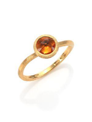 Marco Bicego Jaipur Citrine & 18K Yellow Gold Ring In Gold-Orange