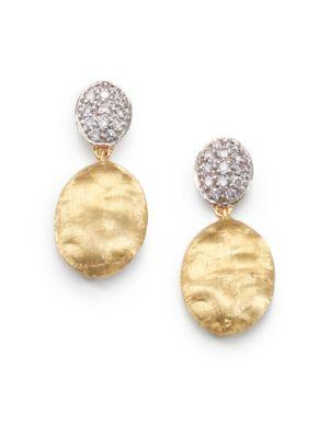 Marco Bicego Siviglia Diamond, 18K Yellow & White Gold Drop Earrings In Gold-White Gold