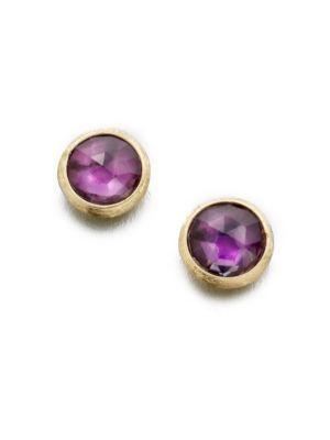 Marco Bicego Jaipur Amethyst & 18K Yellow Gold Stud Earrings In Gold-Amethyst