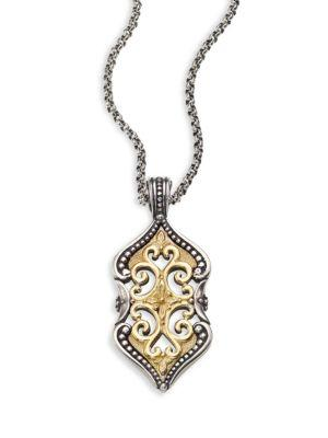 Konstantino Hebe 18K Yellow Gold & Sterling Silver Pendant In Silver/ Gold