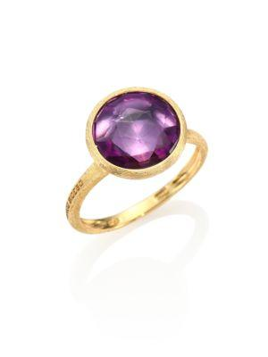 Marco Bicego Jaipur Amethyst & 18K Yellow Gold Medium Stackable Ring In Gold-Amethyst
