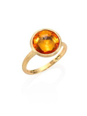 Marco Bicego Jaipur Citrine & 18K Yellow Gold Medium Stackable Ring In Gold-Citrine