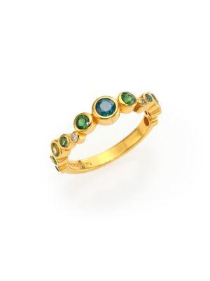 Gurhan Pointelle Diamond, Multi-Stone & 24K Yellow Gold Ring In Gold-Multi