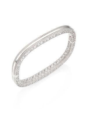Roberto Coin Princess 18K White Gold Bangle Bracelet