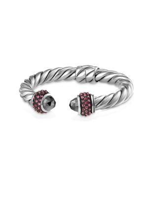 David Yurman Cable Berries Pink Sapphire & Stainless Steel Bracelet