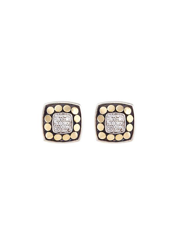 John Hardy Dot Diamond, 18K Yellow Gold & Sterling Silver Pendant Necklace & Stud Earring Gift Set In Silver-Gold