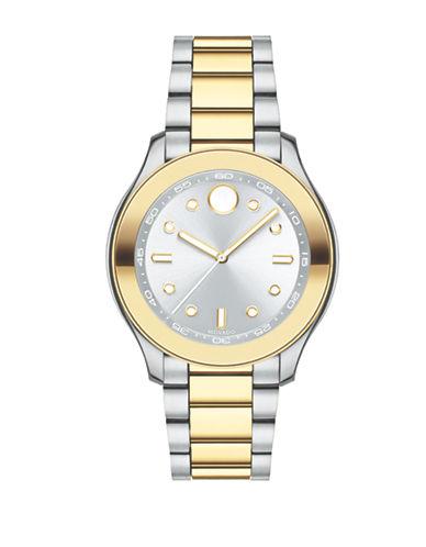 Movado Bold Two-Tone Stainless Steel Bracelet Sport Watch In Silver