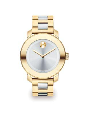 Movado Bold Two-Tone Ip Stainless Steel Bracelet Watch/36Mm In Gold/ Silver