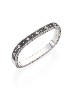 Roberto Coin Princess Diamond 18K White Gold Bangle Bracelet