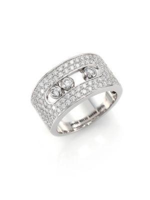 Messika Move Noa Diamond & 18K White Gold Ring