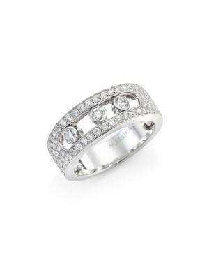 Messika Move 18K White Gold & Diamond PavÉ Ring