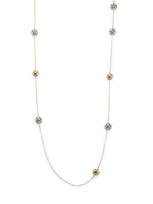 John Hardy Dot Two-Tone Station Necklace In Silver-Gold