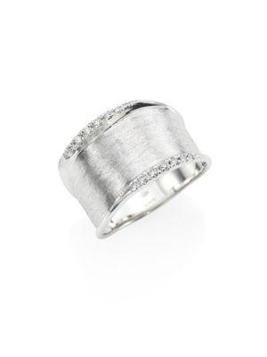 Marco Bicego Lunaria Small Diamond & 18K White Gold Ring