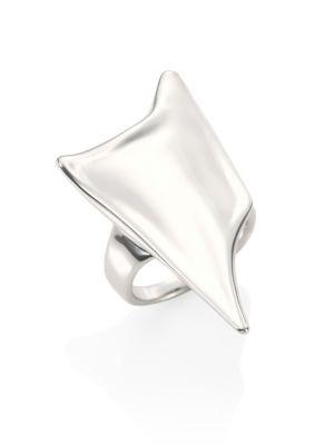 Alexis Bittar Elements Liquid Thorn Ring In Silver