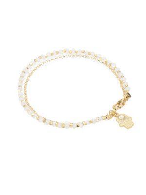 Astley Clarke Biography Moonstone & White Sapphire Hamsa Bracelet