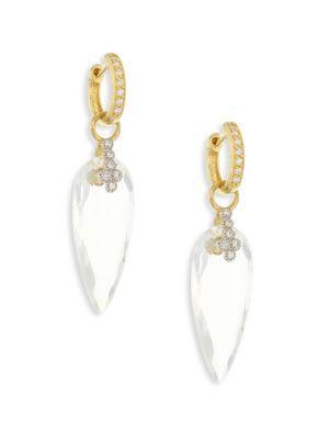 Jude Frances Provence Champagne Diamond & White Topaz Teardrop Earring Charms