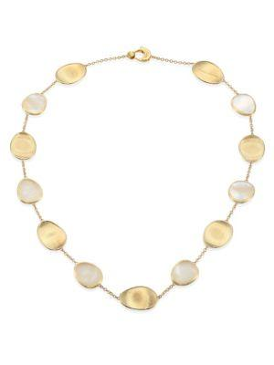Marco Bicego Lunaria Mother-Of-Pearl & 18K Yellow Gold Necklace In Gold-Pearl