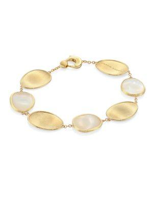Marco Bicego Lunaria Mother-Of-Pearl & 18K Yellow Gold Bracelet In Gold Pearl