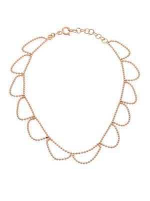 Kismet By Milka Beads 14K Rose Gold Anklet