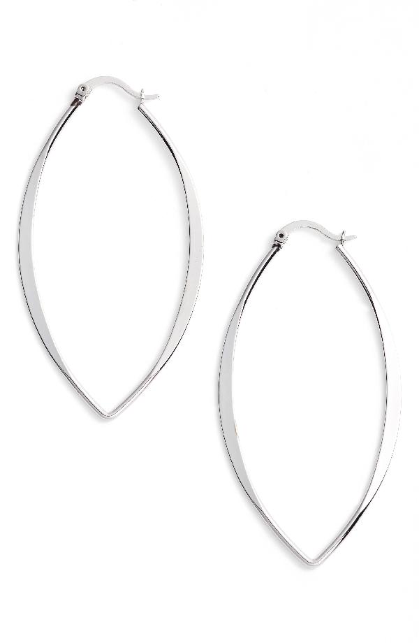 """Jules Smith Gamma Hoop Earrings/1.25"""" In Silver"""