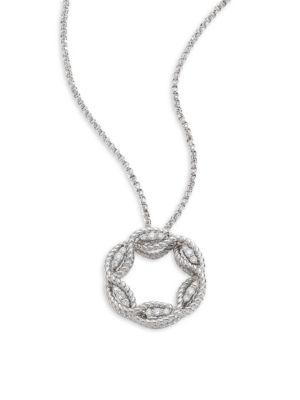 Roberto Coin Barocco Diamond & 18K White Gold Pendant Necklace
