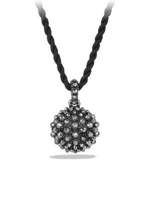 David Yurman 20Mm Cable Berries Faceted Hematine Pendant Necklace, 42""