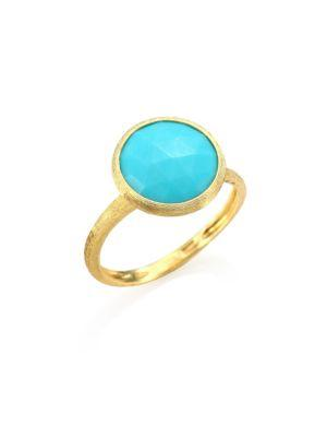 Marco Bicego 18K Yellow Gold Jaipur Ring With Turquoise In Turquoise/Gold