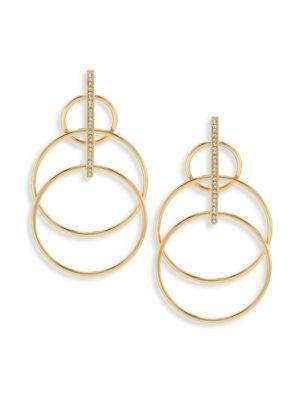 Jules Smith Suzy Layered Hoop Drop Earrings In Yellow Gold