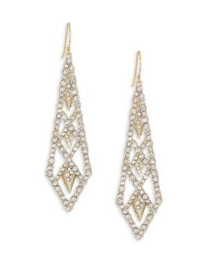 Alexis Bittar Elements Crystal Drop Earrings In Yellow Gold