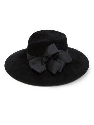 Eric Javits Gorgeous Milled Rabbit Felt Hat In Black