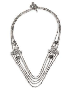 Konstantino Penelope Sterling Silver Multi-Row Station Necklace