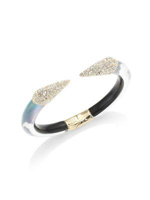 Alexis Bittar Lucite Crystal-Encrusted Pyramid Bangle In Multi