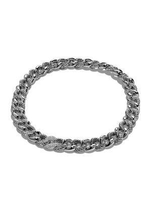 David Yurman Belmont Necklace With Diamonds In Silver