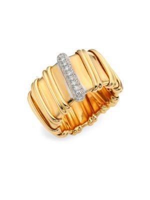 Roberto Coin Nabucco Diamond & 18K Rose Gold Ring