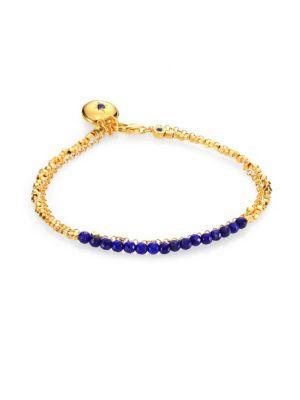 Astley Clarke Lapis Locket Biography Bracelet In Gold-Lapis