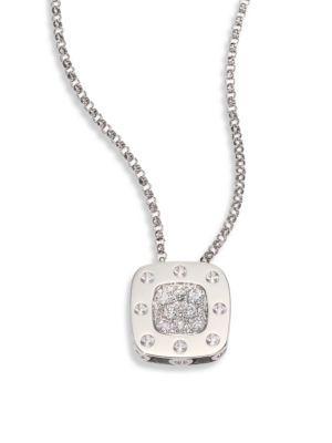 Roberto Coin Diamond & 18K White Gold Pendant Necklace