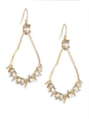 Alexis Bittar Elements Spiked Crystal Open Drop Earrings In Gold
