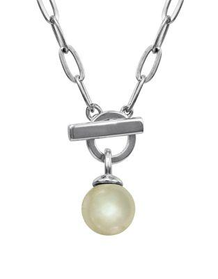 Majorica 12Mm White Organic Man-Made Pearl Toggle Necklace