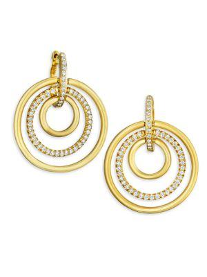 Carelle Moderne Diamond & 18K Yellow Gold Trio Earrings