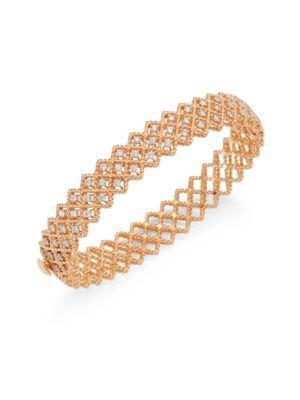 Roberto Coin Barocco Diamond & 18K Rose Gold Bangle