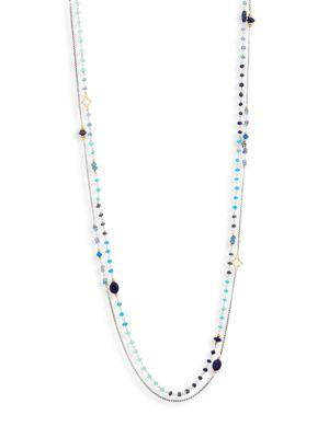 David Yurman Bead Layering Necklace In Hampton Blue Topaz