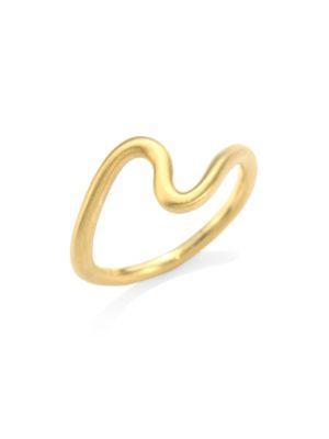 Carelle Brushstroke 18K Yellow Gold N° 2 Ring
