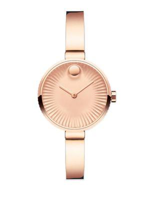 Movado Edge Rose Goldtone Stainless Steel Bracelet Watch