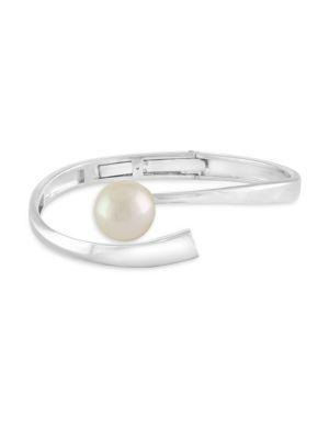 Majorica 12Mm White Organic Faux Pearl And Sterling Silver Bracelet