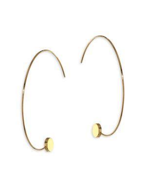 """Jules Smith Amos Hoop Earrings/2.5"""" In Gold"""