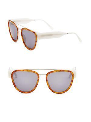 Smoke X Mirrors Soda Pop 53Mm Oversized Aviator Sunglasses In Ginger